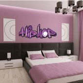 Autocolante decorativo graffiti hip hop
