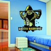 Autocolante decorativo guetto warriors