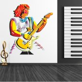Autocolante decorativo guitarrista