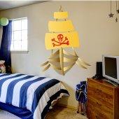 Autocolante decorativo infantil Barco pirata