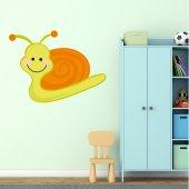 Autocolante decorativo infantil caracol