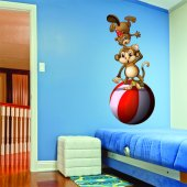 Autocolante decorativo infantil circo