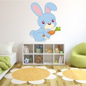 Autocolante decorativo infantil coelho