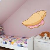 Autocolante decorativo infantil concha