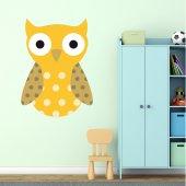 Autocolante decorativo infantil corujas