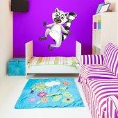 Autocolante decorativo infantil doninha-fedorenta