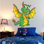 Autocolante decorativo infantil dragón
