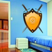 Autocolante decorativo infantil escudo