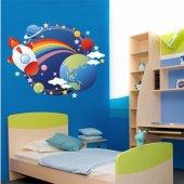 Autocolante decorativo infantil espaço