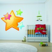 Autocolante decorativo infantil estrelas