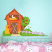 Autocolante decorativo infantil fazenda