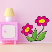 Autocolante decorativo infantil flores