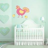 Autocolante decorativo infantil galinha