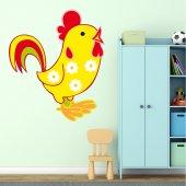 Autocolante decorativo infantil galo