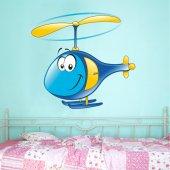 Autocolante decorativo infantil helicóptero