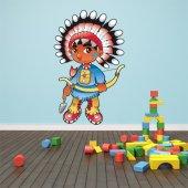Autocolante decorativo infantil indiano