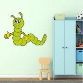 Autocolante decorativo infantil lagarta