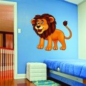 Autocolante decorativo infantil leão