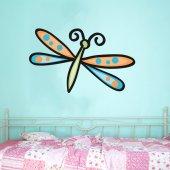 Autocolante decorativo infantil libélula
