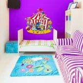 Autocolante decorativo infantil lona do circo