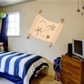 Autocolante decorativo infantil mapa do tesouro