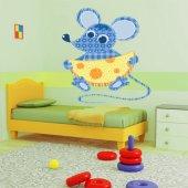 Autocolante decorativo infantil mouse