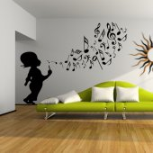 Autocolante decorativo infantil música