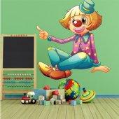 Autocolante decorativo infantil palhaço