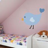 Autocolante decorativo infantil pássaro