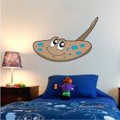Autocolante decorativo infantil peixe raio
