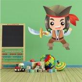 Autocolante decorativo infantil pirata