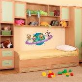 Autocolante decorativo infantil planeta