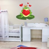 Autocolante decorativo infantil rã