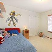Autocolante decorativo infantil robôs