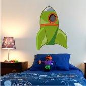 Autocolante decorativo infantil rockets