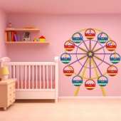 Autocolante decorativo infantil roda da fortuna