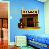 Autocolante decorativo infantil saloon