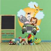 Autocolante decorativo infantil selva