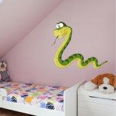 Autocolante decorativo infantil serpente