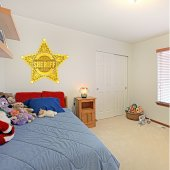 Autocolante decorativo infantil Sheriff Estrela