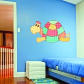 Autocolante decorativo infantil tartaruga