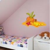 Autocolante decorativo infantil tesouro
