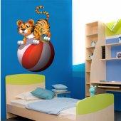 Autocolante decorativo infantil tigre