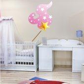 Autocolante decorativo infantil varinha da estrela