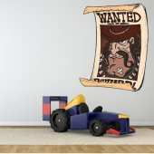 Autocolante decorativo infantil wanted