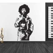 Autocolante decorativo jimmy hendrix
