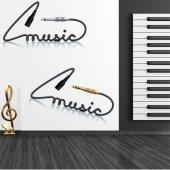 Autocolante decorativo música