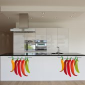 Autocolante decorativo pimentas