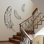 Autocolante decorativo pluma