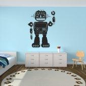Autocolante decorativo robôs